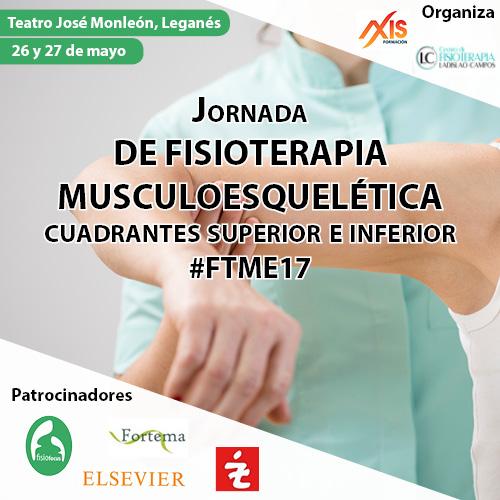 JORNADA DE FISIOTERAPIA MUSCULOESQUELÉTICA. CUADRANTE SUPERIOR E INFERIOR