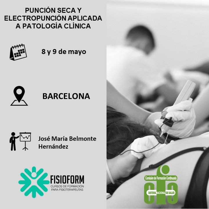 Curso punción seca y electropunción aplicada a patología clínica (Barcelona)