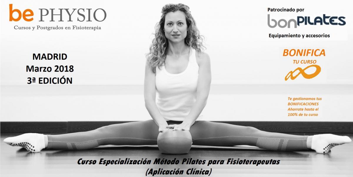 Últimas plazas! Curso de Pilates suelo, accesorios y su aplicación terapéutica en fisioterapia. 3ª Ed. Madrid, Marzo 2018