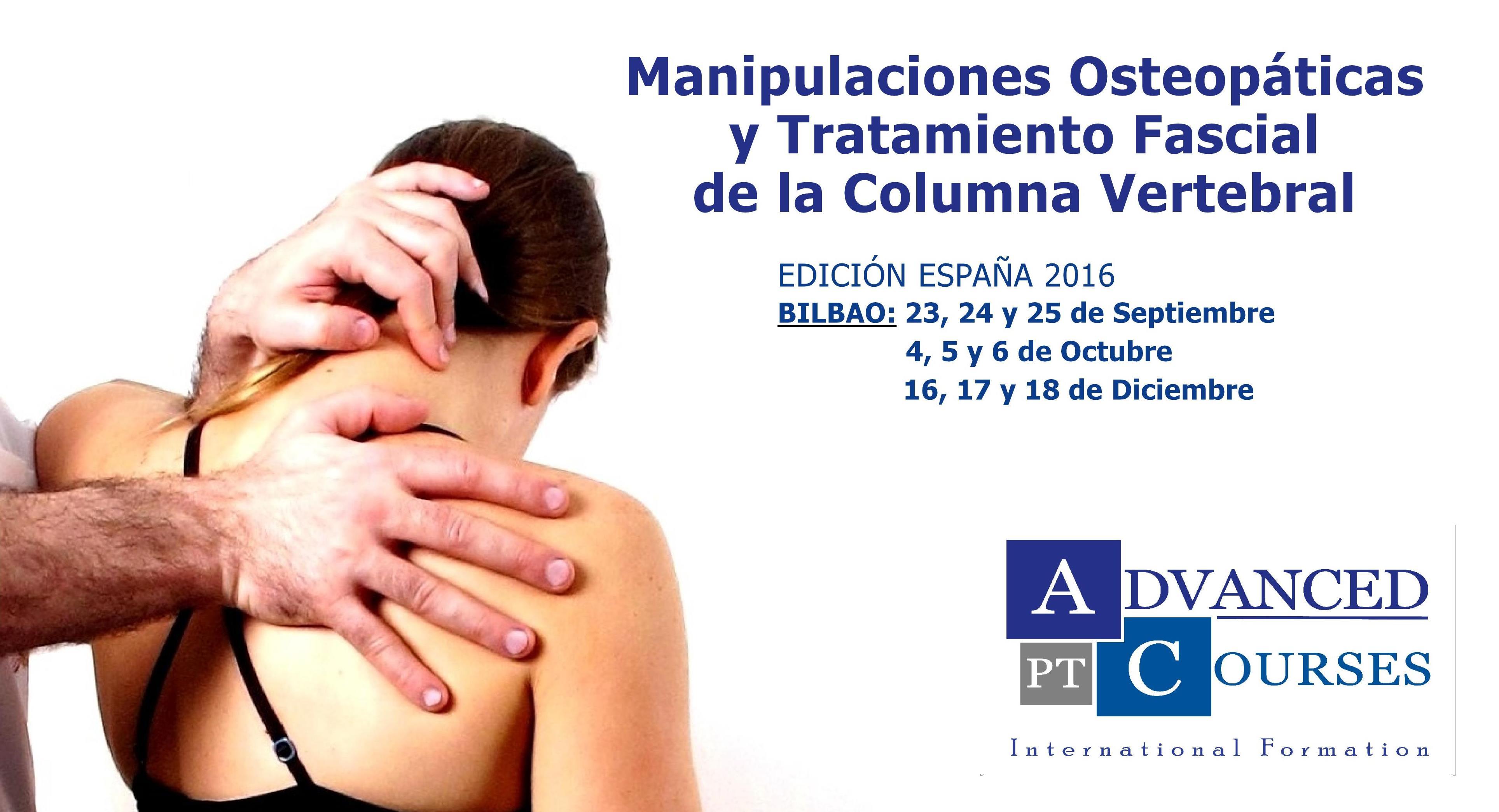 Manipulaciones Osteopáticas y Tratamiento Fascial de la Columna Vertebral