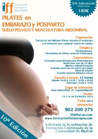 10ª EDICION PILATES APLICADO AL EMBARAZO Y POSPARTO, SUELO PÉLVICO Y MUSCULATURA ABDOMINAL