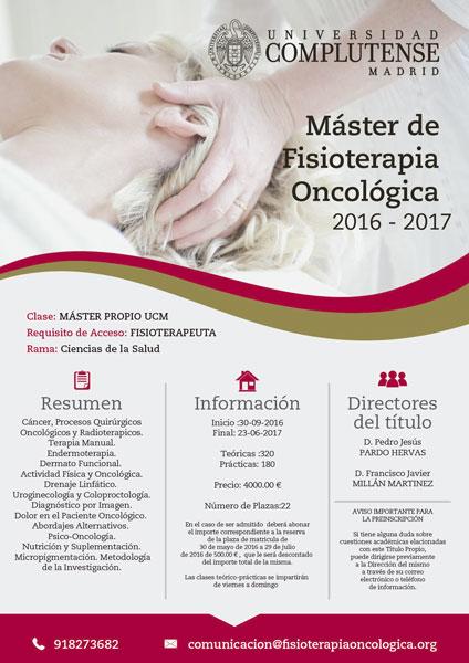 Master de Fisioterapia Oncológica