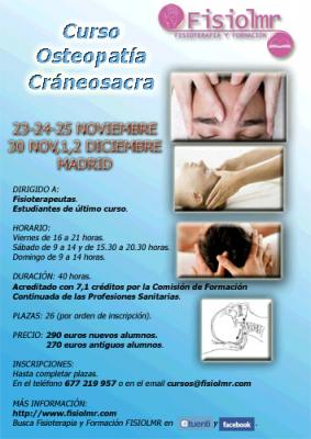 OSTEOPATIA CRANEOSACRA. 7,1 CREDITOS.