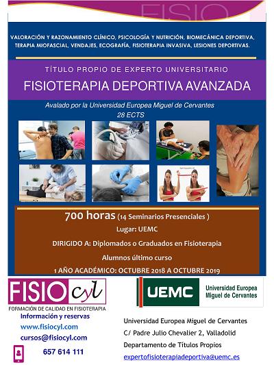 Experto Universitario en Fisioterapia Deportiva en Valladolid ... 50c3dfb94d57