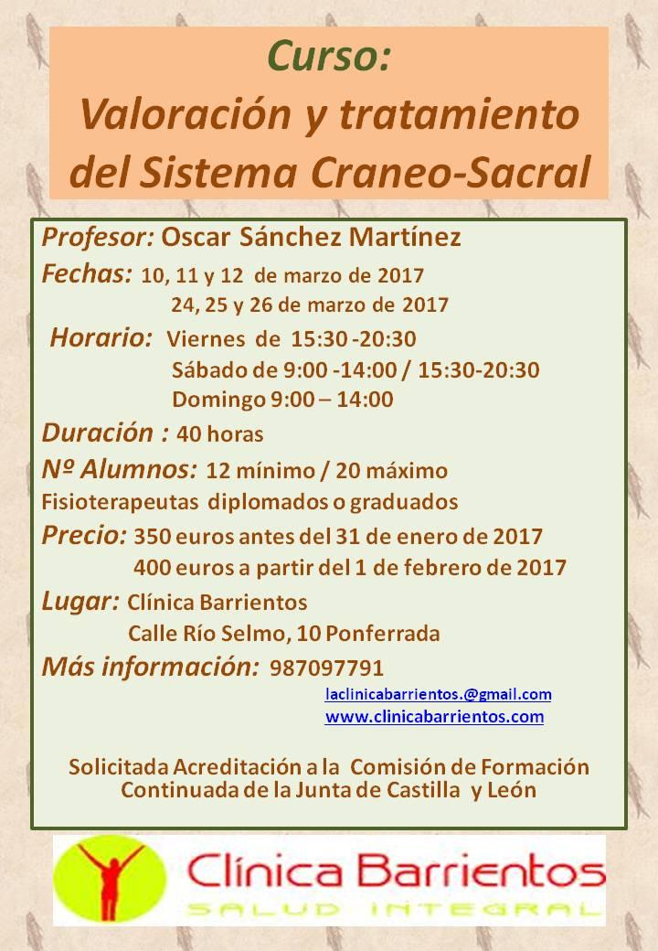 VALORACIÓN  Y TRATAMIENTO DEL SISTEMA CRÁNEO-SACRAL