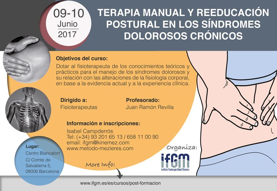 Terapia Manual y Reeducación Postural en los Síndromes Dolorosos Crónicos