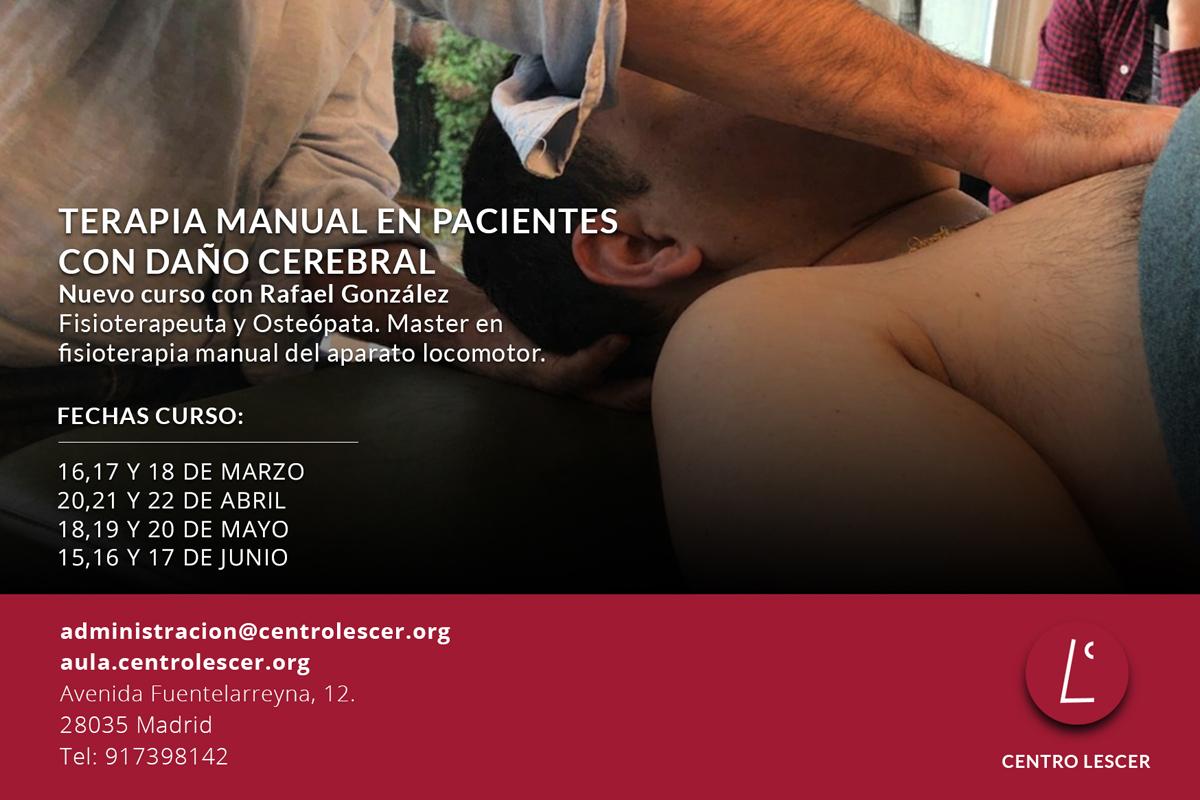 Terapia Manual en Pacientes con Daño Cerebral (Últimas plazas)