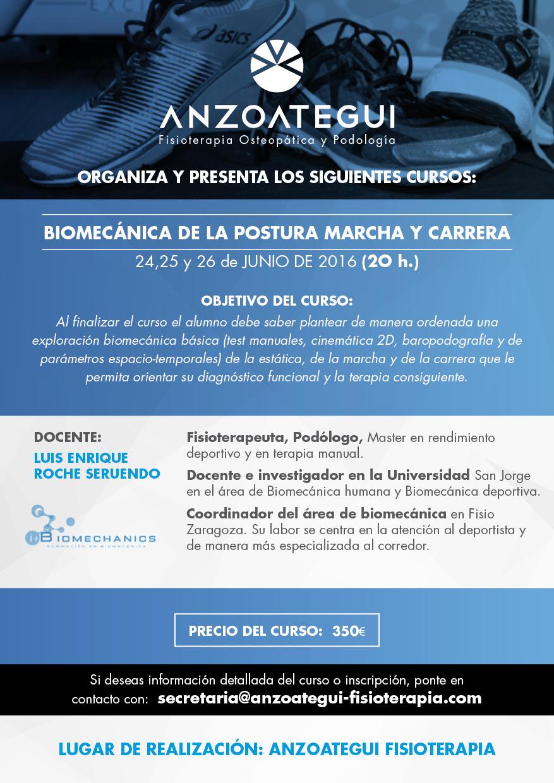 CURSO BIOMECÁNICA DE LA POSTURA MARCHA Y CARRERA.