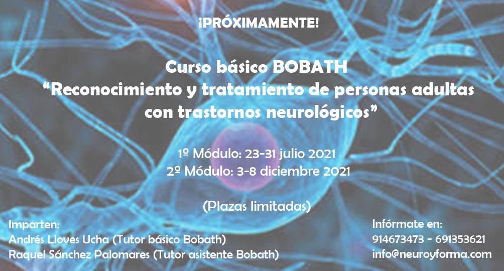 """Curso Básico Bobath """"Reconocimiento y tratamiento de personas adultas con trastornos neurológicos"""""""
