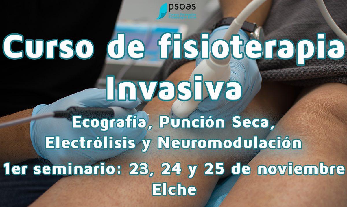 Curso de Fisioterapia Invasiva: ecografia, punción seca, electrólisis y neuromodulación