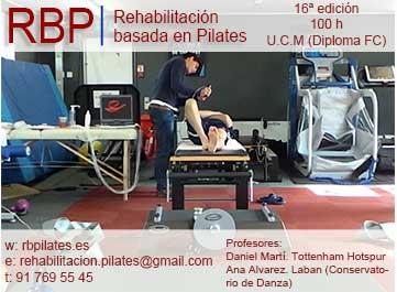 TÍTULO UNIVERSITARIO OFICIAL: Rehabilitación basada en PILATES. UNIVERSIDAD COMPLUTENSE de MADRID. Febrero 2016. 18ª Edición