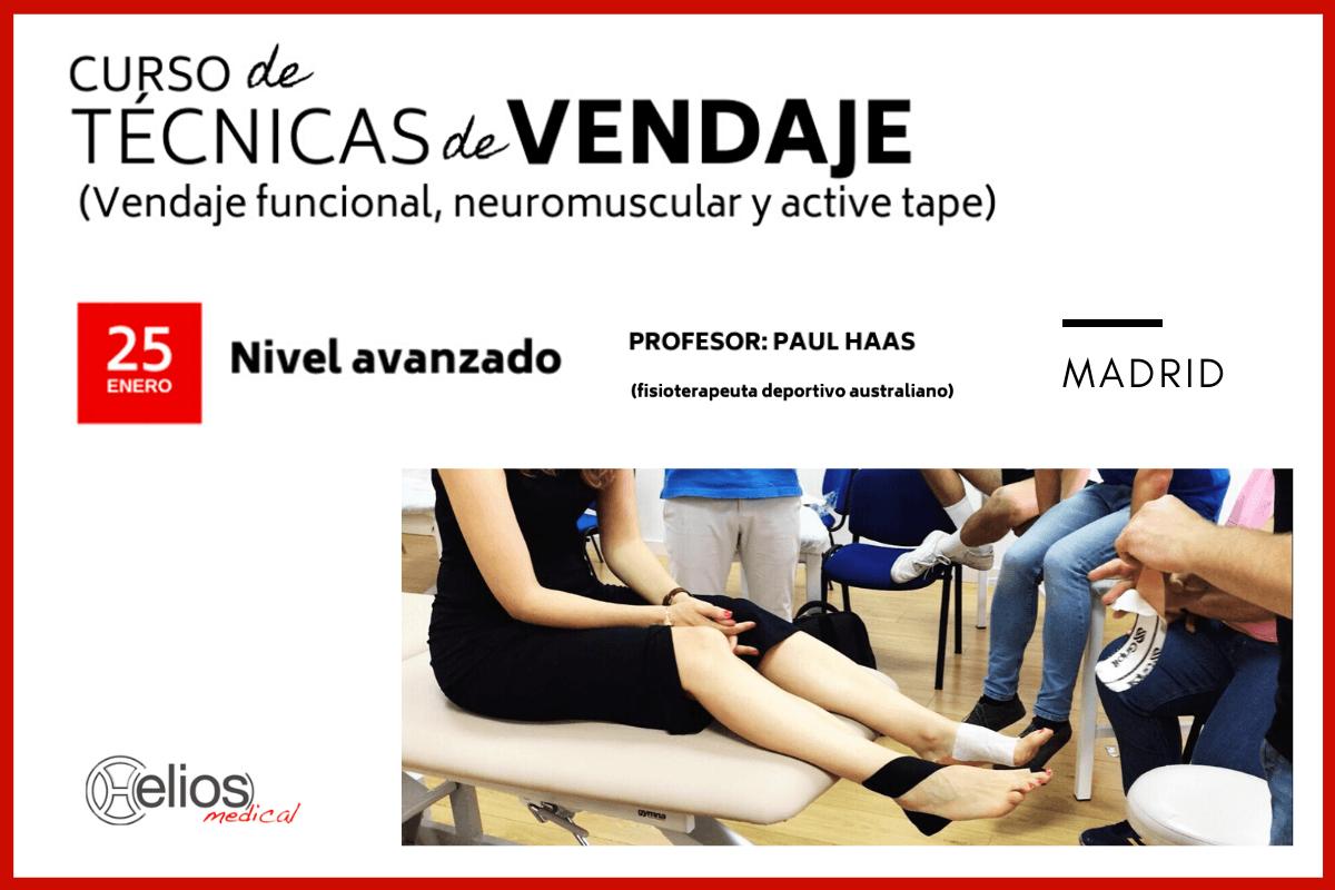 Revisión de Curso de Técnicas de Vendaje (funcional, neuromuscular y active tape) - Nivel avanzado
