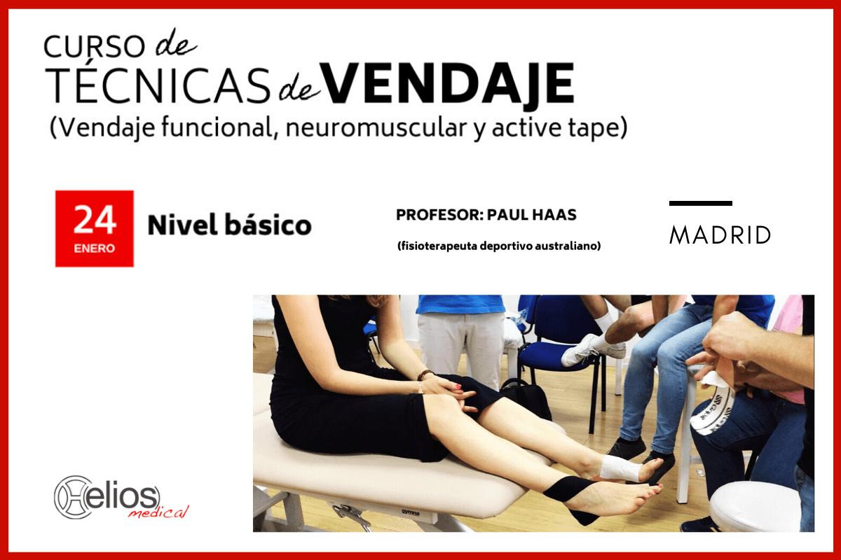 Curso de Técnicas de Vendaje (funcional, neuromuscular y active tape) - Nivel básico