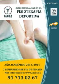 CURSO ESPECIALIZADO EN  FISIOTERAPIA DEPORTIVA 3 EDICIÓN 2013/2014