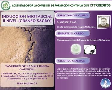 INDUCCION MIOFASCIAL II NIVEL: CRANEOSACRO