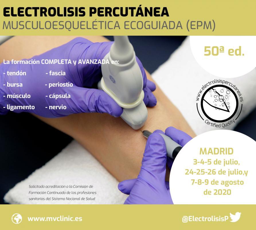 Electrolisis Percutánea Musculoesquelética Ecoguiada (EPM) - 50ª ed.