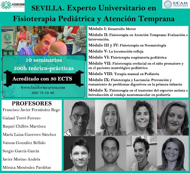EXPERTO UNIVERSITARIO EN FISIOTERAPIA PEDIÁTRICA Y ATENCIÓN TEMPRANA (Sevilla) FISIOFORM-UCAM 30 créditos ECTS