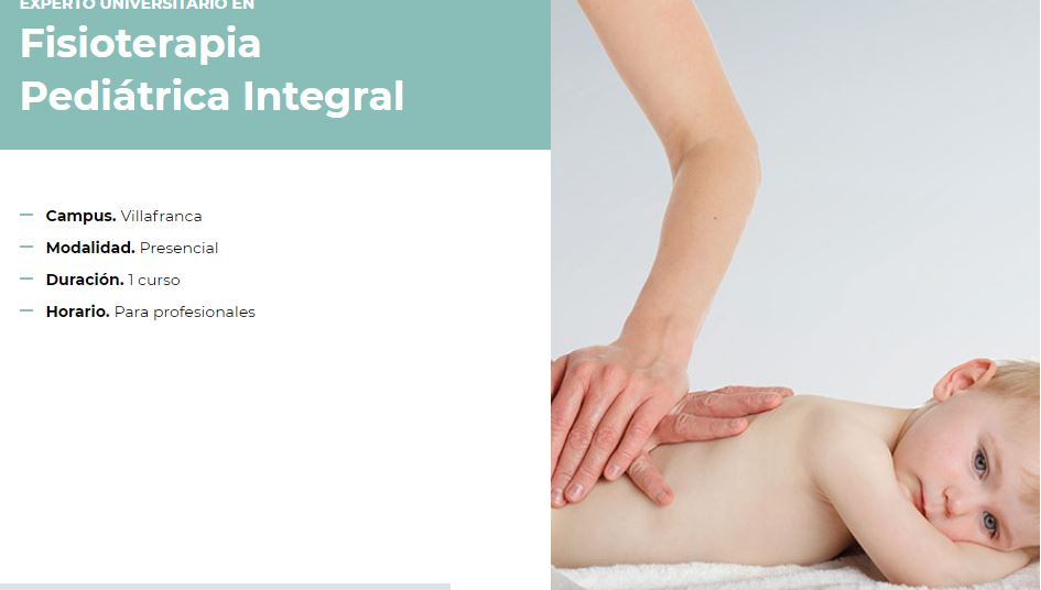 Experto Universitario en Fisioterapia Pediátrica Integral