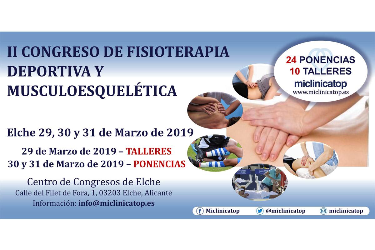 II Congreso de fisioterapia Deportiva y Musculoesquética, Miclinicatop