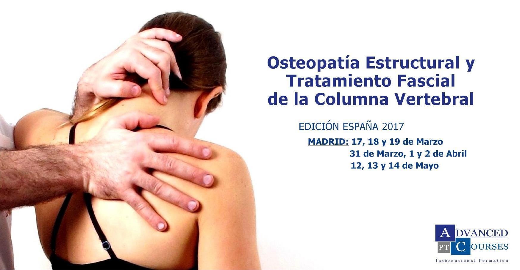Osteopatía Estructural y Tratamiento Fascial de la Columna Vertebral