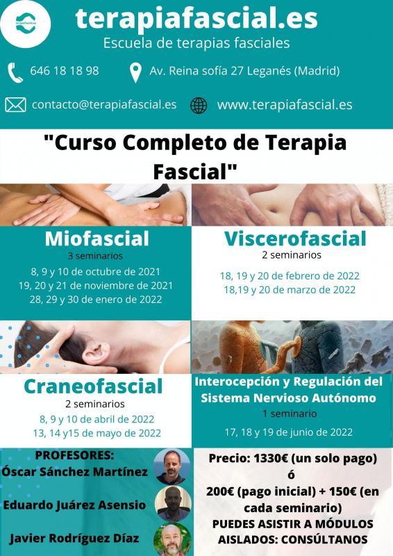 Curso Completo de Terapia Fascial (CURSO CONFIRMADO)