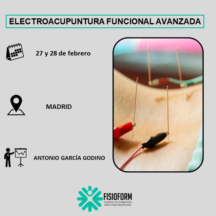 Electroacupuntura avanzada (Neuromodulación Funcional) Madrid (Febrero)