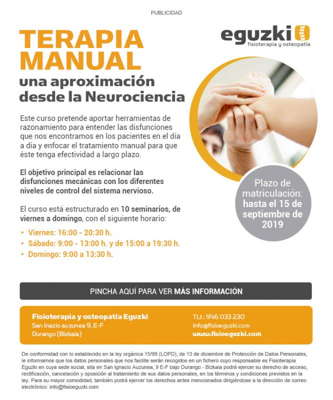 Terapia manual, una aproximación desde la Neurociencia