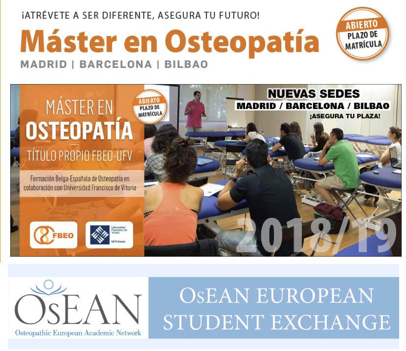 Máster en Osteopatía FBEO- UFV  Sedes en Madrid / Bilbao / Barcelona