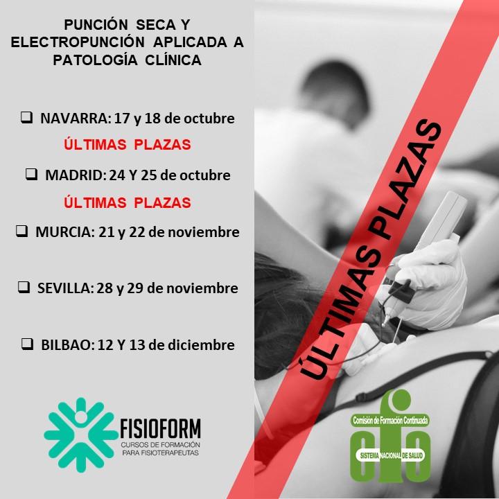 Curso punción seca y electropunción aplicada a patología clínica (Madrid)