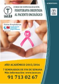 Curso de Experto en Fisioterapia orientada al paciente oncológico