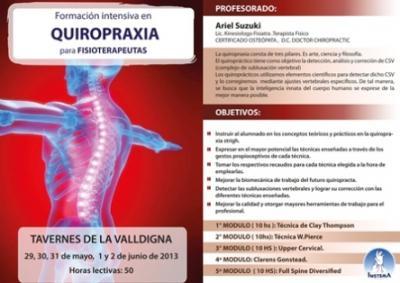 FORMACION INTENSIVA DE QUIROPRAXIA PARA FISIOTERAPEUTAS