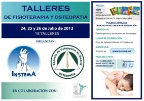TALLERES DE FISIOTERAPIA Y OSTEOPATÍA