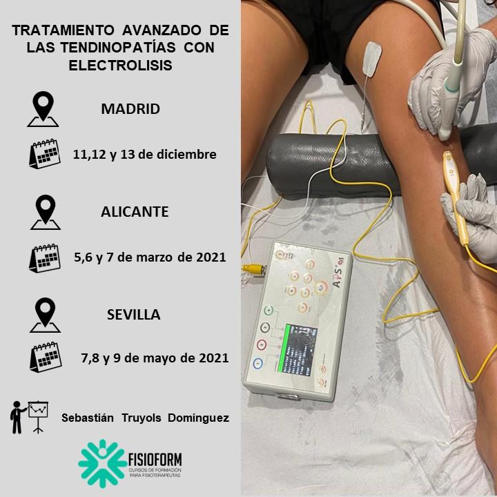 Curso tratamiento avanzado de las tendinopatías con electrólisis (Madrid)