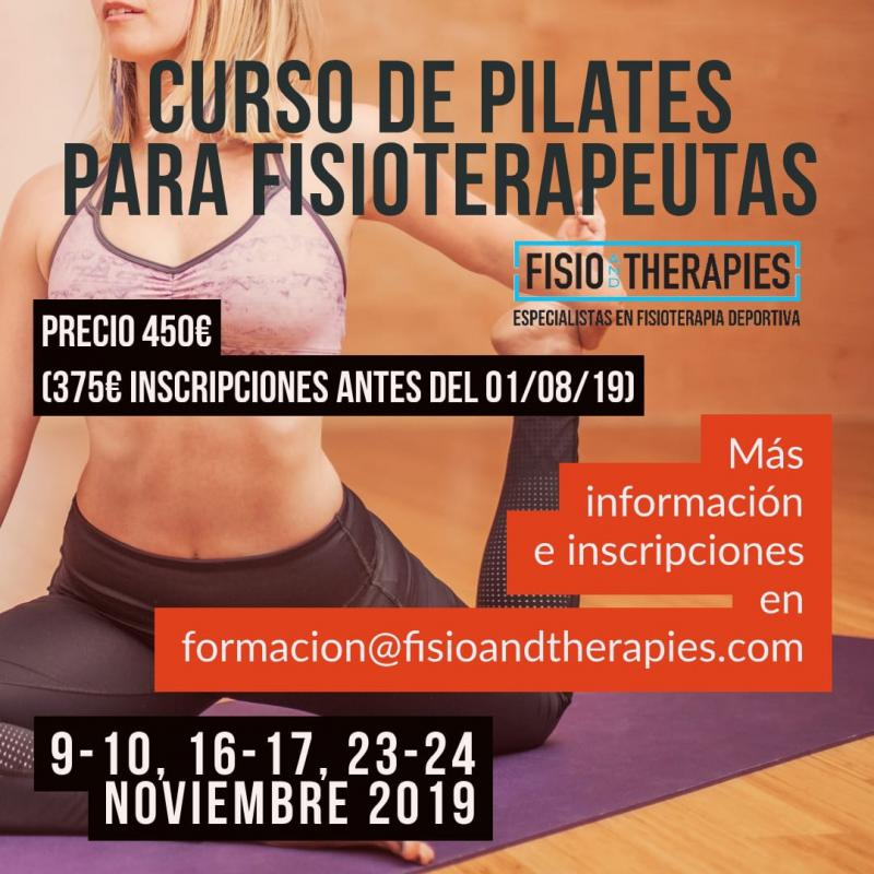 Curso de Pilates Para Fisioterapeutas: PIlates Suelo, Pilates Terapéutico y Pilates Deportivo