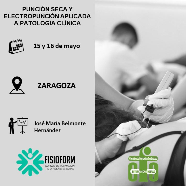 Curso punción seca y electropunción aplicada a patología clínica (Zaragoza)