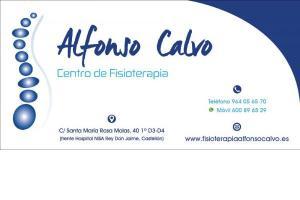 ALFONSO CALVO. Centro de Fisioterapia
