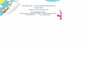 Terapia Física pediatrica y Neuroterapia