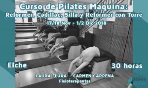 Curso de Pilates Máquina: Reformer, Cadillac , Silla y Reformer con torre