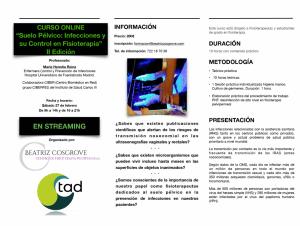Suelo Pélvico: Infecciones y su Control en Fisioterapia