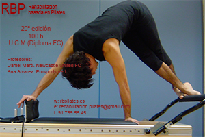 DIPLOMA UNIVERSITARIO: Rehabilitación basada en PILATES. UNIVERSIDAD COMPLUTENSE de MADRID. Marzo 2017. 20ª Edición