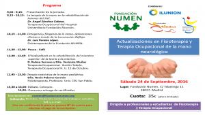 Jornada científica: Actualizaciones en Fisioterapia y Terapia Ocupacional de la mano neurológica