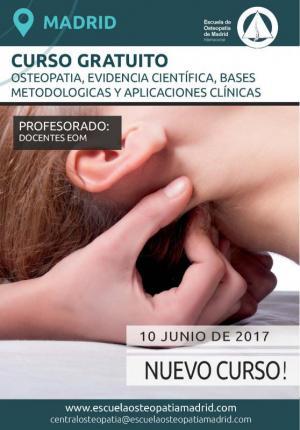 CURSO GRATUITO OSTEOPATIA, EVIDENCIA CIENTÍFICA, BASES METODOLOGICAS Y APLICACIONES CLÍNICAS