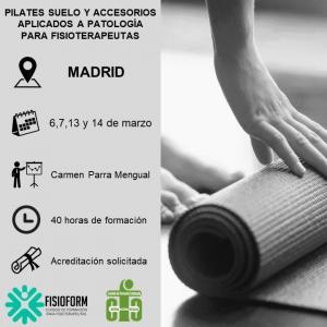 Curso pilates suelo y accesorios aplicados a patología para fisioterapeutas (Madrid) Marzo