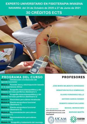 ¡Últimas plazas! Experto universitario en fisioterapia invasiva y ecografía musculoesquelética (Navarra) Fisioform-Ucam 30 créditos ects