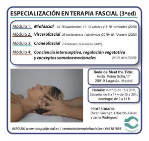 Curso de Especialización en Terapia Fascial (ÚLTIMAS 4 PLAZAS)