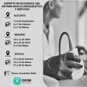 Experto en ecografía del sistema musculoesquelético y nervioso para fisioterapeutas (Madrid)