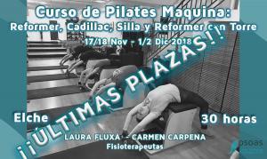 Curso de Pilates Máquina: Reformer, Cadillac , Silla y Reformer con torre. Alicante. ÚLTIMAS PLAZAS