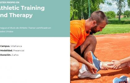 Master in Athletic Training and Therapy
