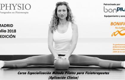Curso de Pilates suelo, accesorios y su aplicación terapéutica en fisioterapia. 4ª Ed. Madrid, Julio 2018