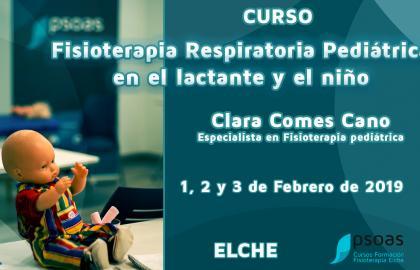 Curso de Fisioterapia Respiratoria Pediátrica en el lactante y el niño